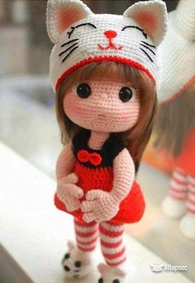Amigurumi Kıyafetli Kedi Yapımı - Örgü Modelleri - Pembe Marifet   580x400